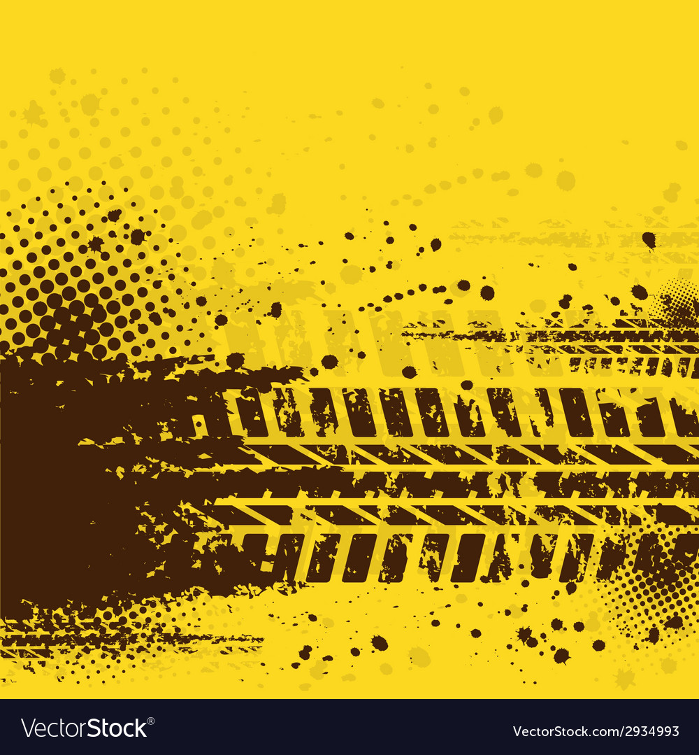 Warm tire track background vector | Price: 1 Credit (USD $1)