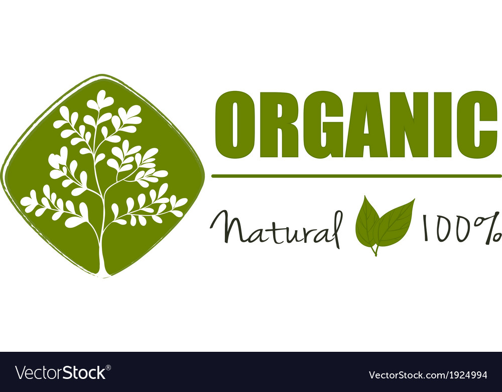 A natural organic label vector | Price: 3 Credit (USD $3)