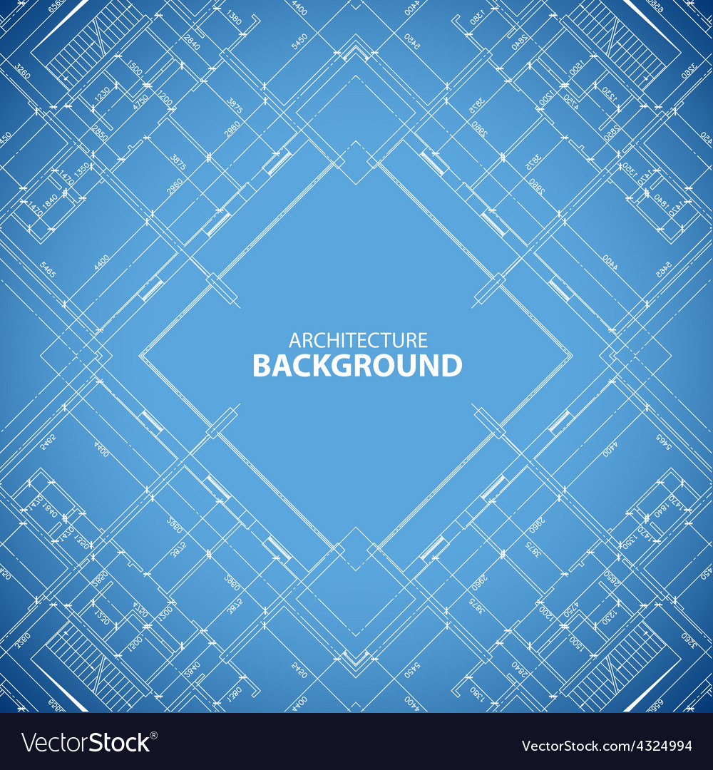 Blueprint building structure background vector | Price: 1 Credit (USD $1)