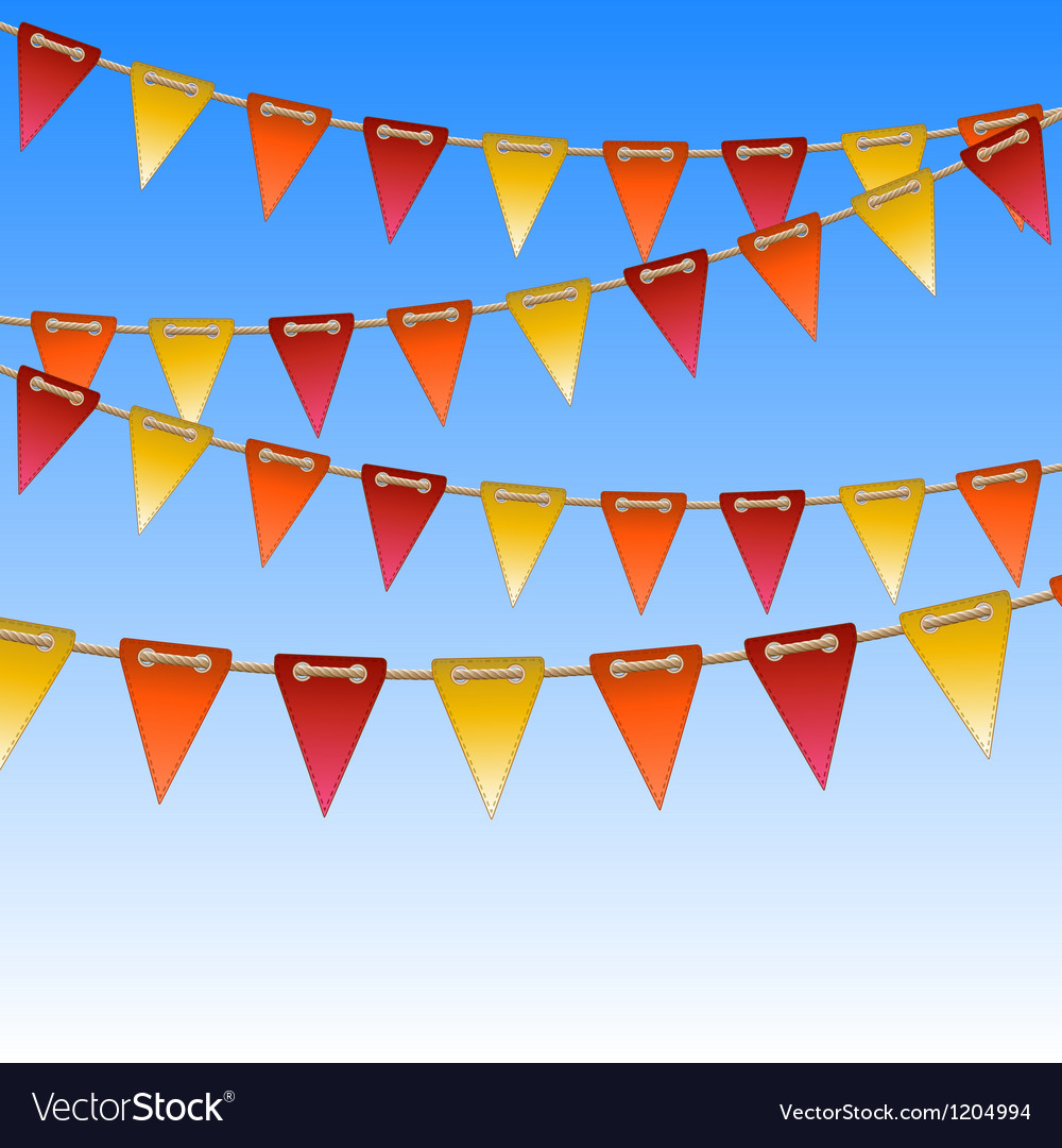 Celebration flags on rope vector | Price: 1 Credit (USD $1)