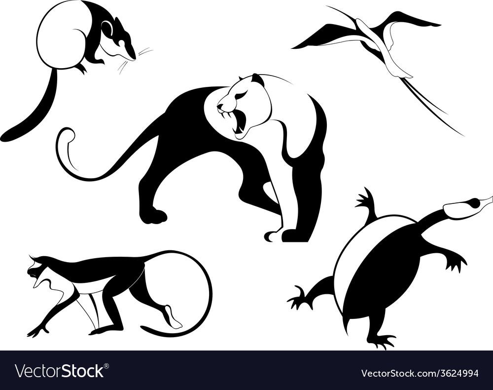 Decor animal silhouette vector | Price: 1 Credit (USD $1)