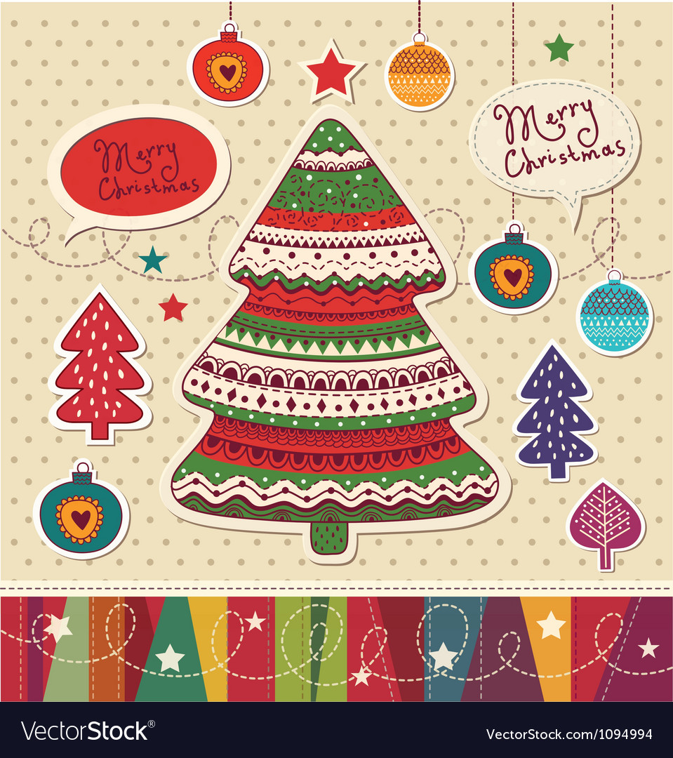 Funky christmas card vector | Price: 1 Credit (USD $1)