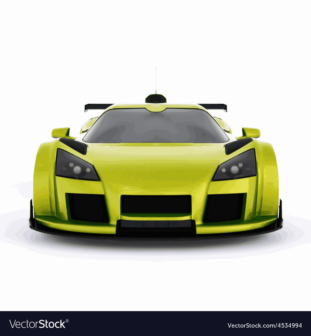 Very fast race green car vector | Price: 1 Credit (USD $1)