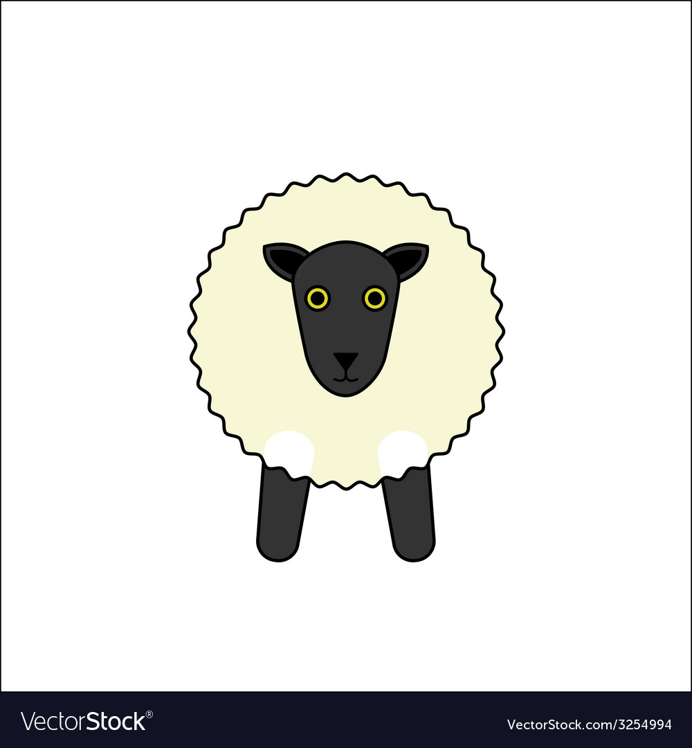White sheep outline vector | Price: 1 Credit (USD $1)