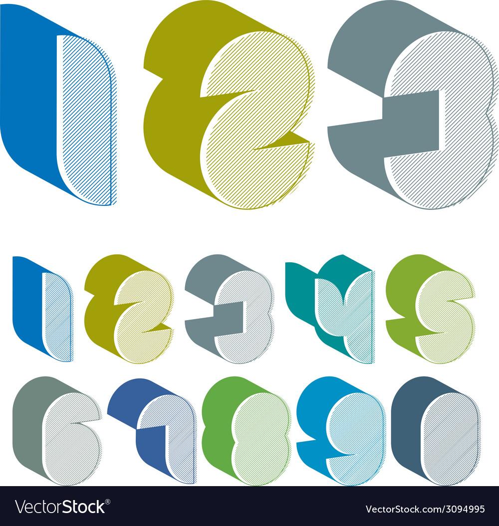 3d futuristic numbers set vector   Price: 1 Credit (USD $1)