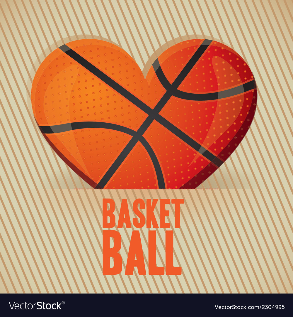 Basketball heart vector | Price: 1 Credit (USD $1)