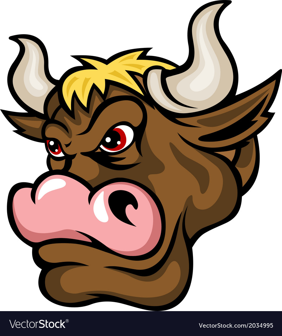Brown bull vector | Price: 1 Credit (USD $1)