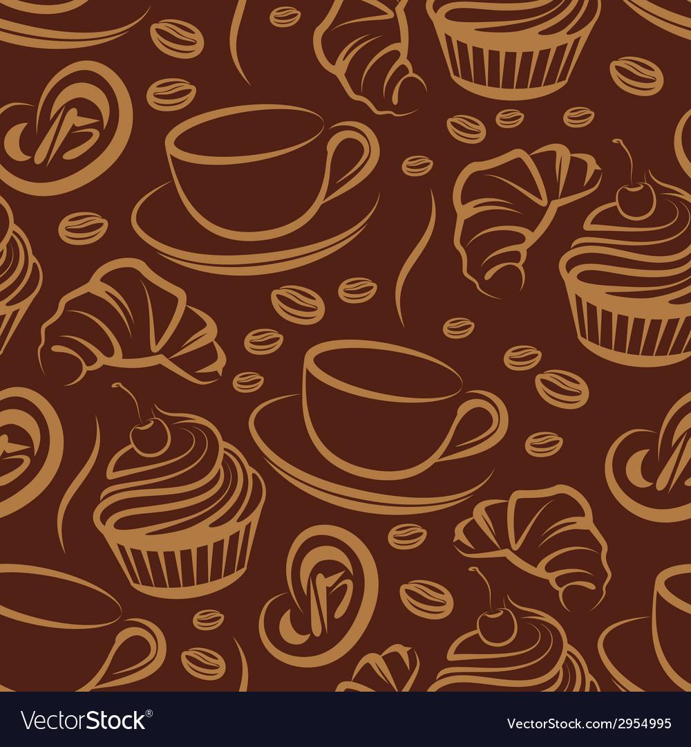 Coffee break seamless background vector | Price: 1 Credit (USD $1)