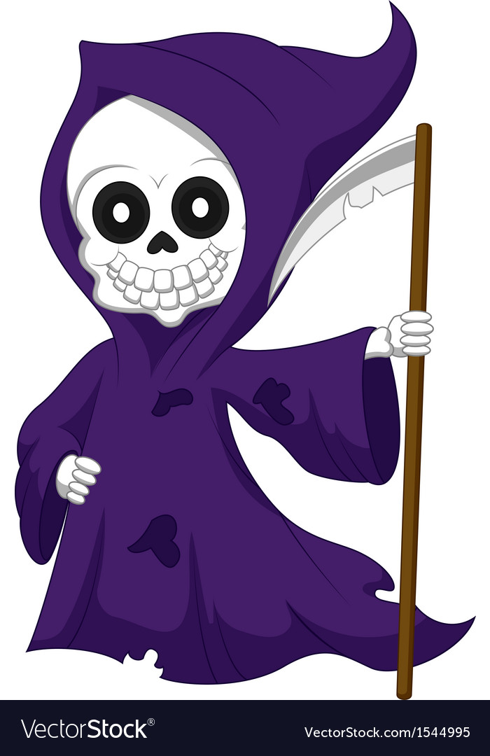 Cute cartoon grim reaper vector | Price: 1 Credit (USD $1)