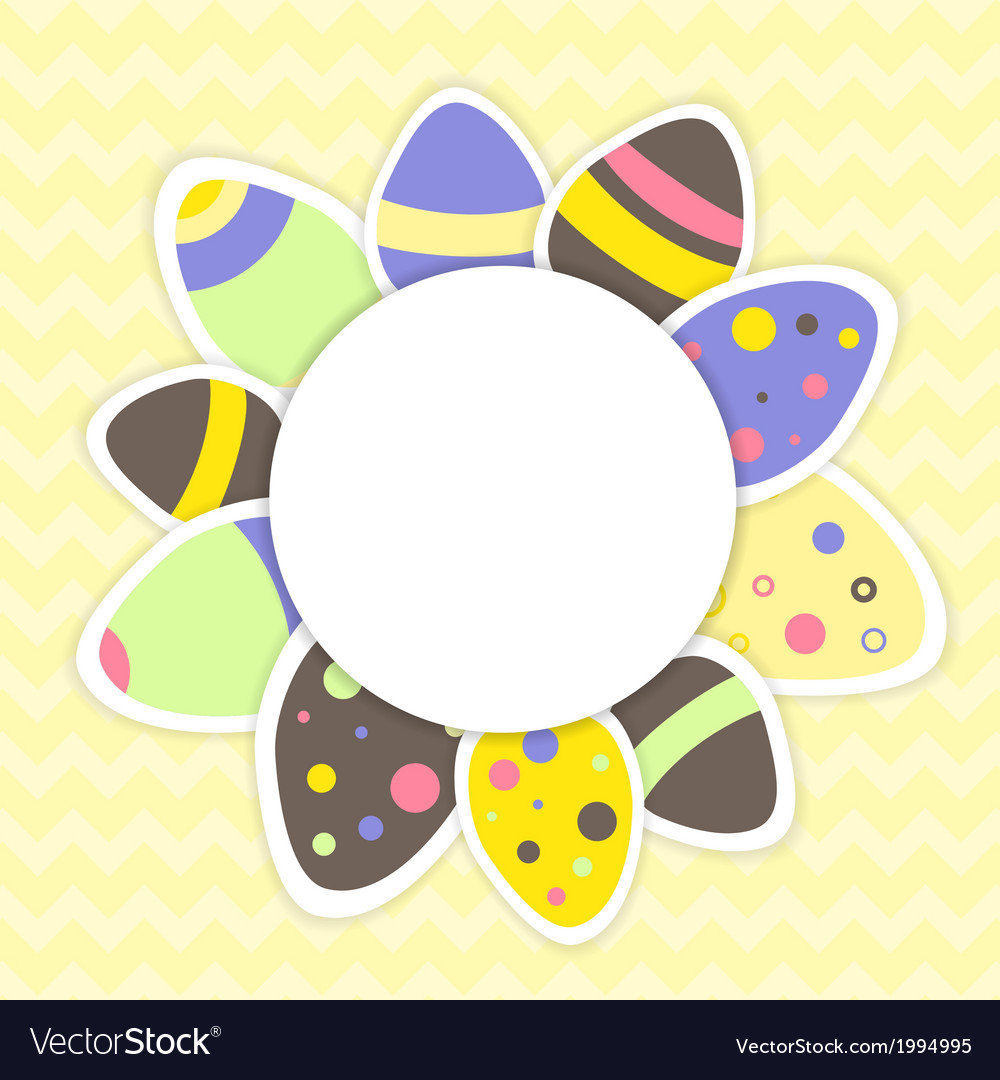 Easter eggs pattern on a yellow vector | Price: 1 Credit (USD $1)