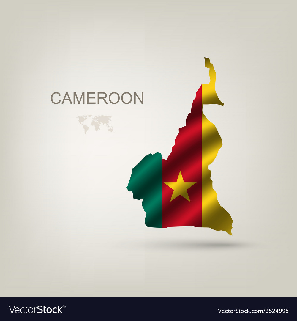 Flag of cameroon as a country vector | Price: 1 Credit (USD $1)