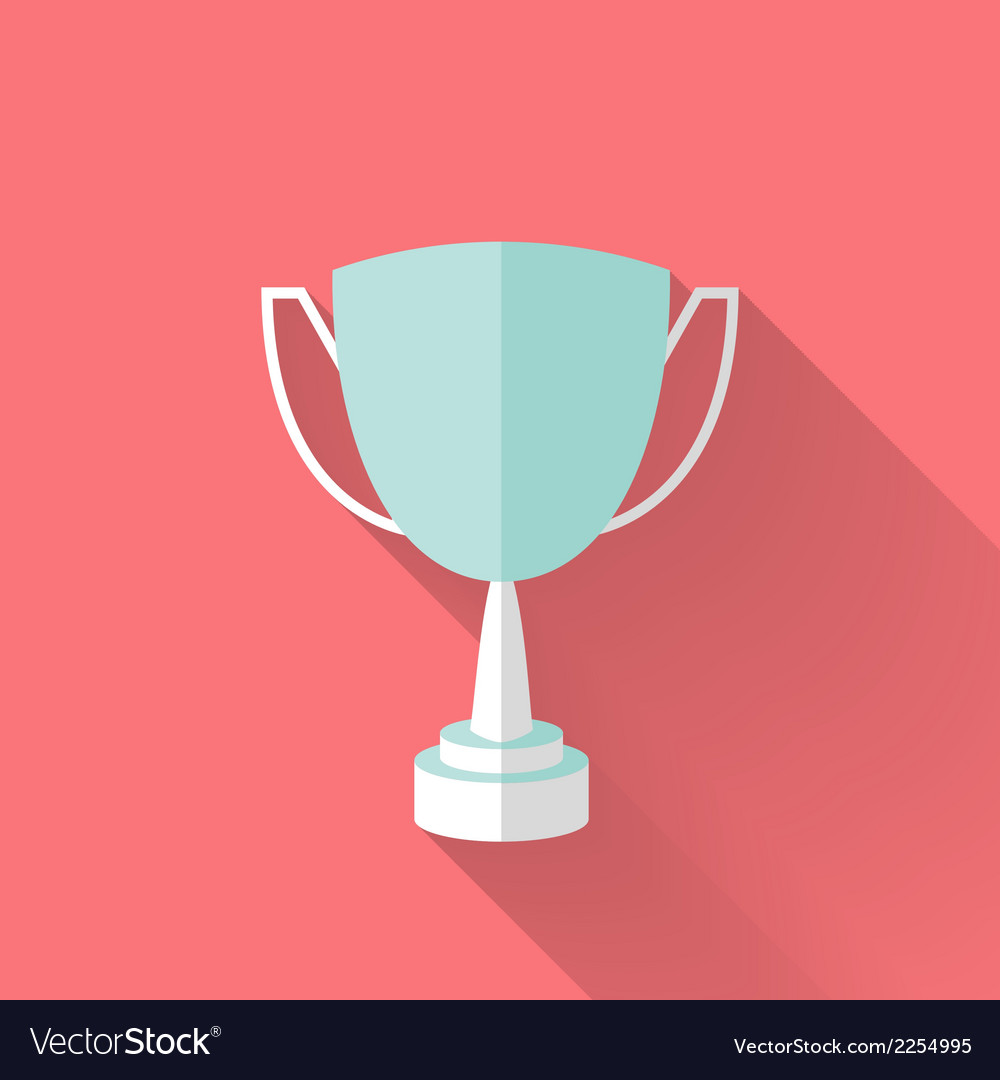 Flat award cup icon vector | Price: 1 Credit (USD $1)