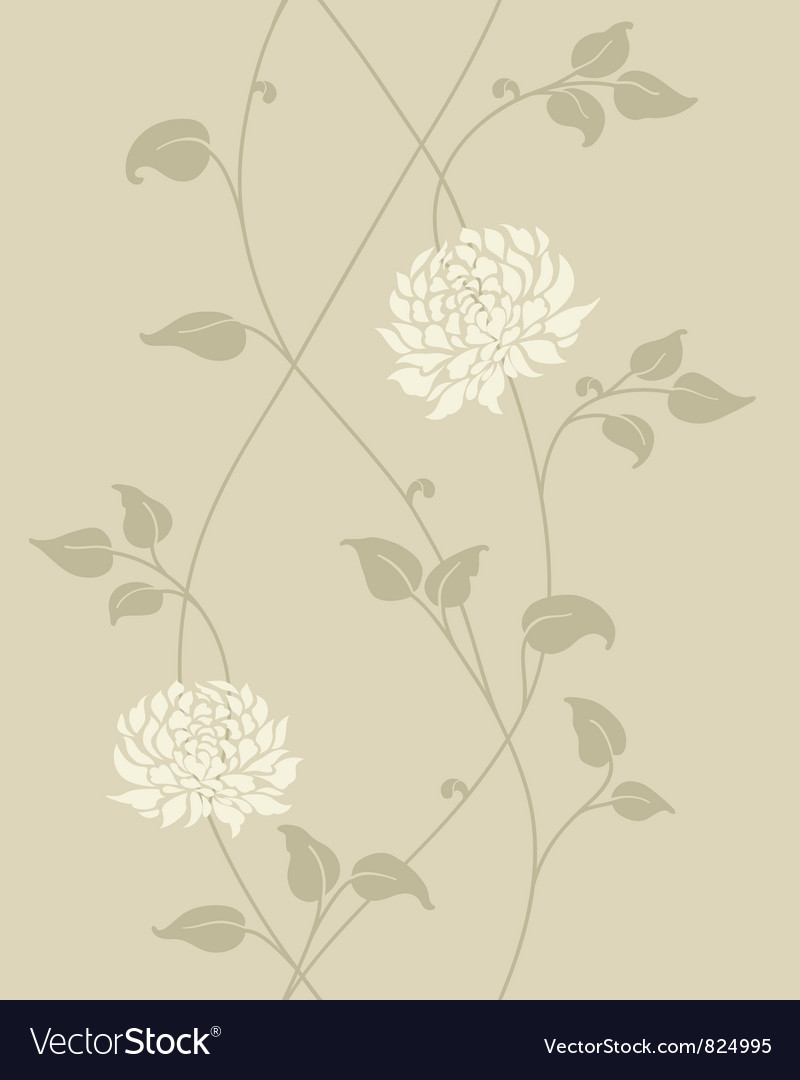 Floral vintage seamless pattern vector | Price: 1 Credit (USD $1)