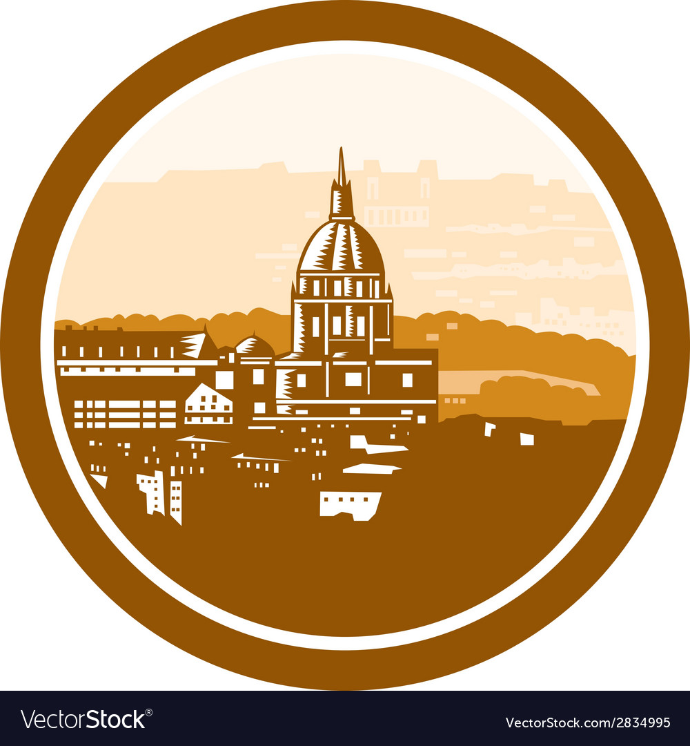 Gold chapel dome of les invalides paris france vector | Price: 1 Credit (USD $1)