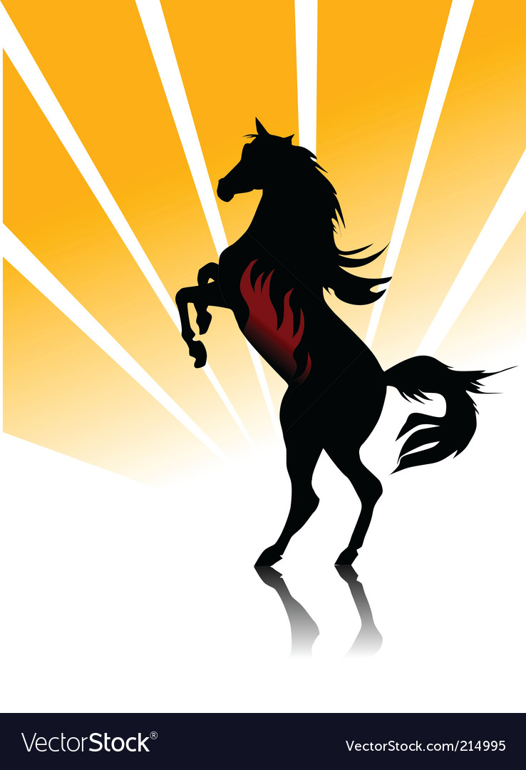 Horse fire vector | Price: 1 Credit (USD $1)