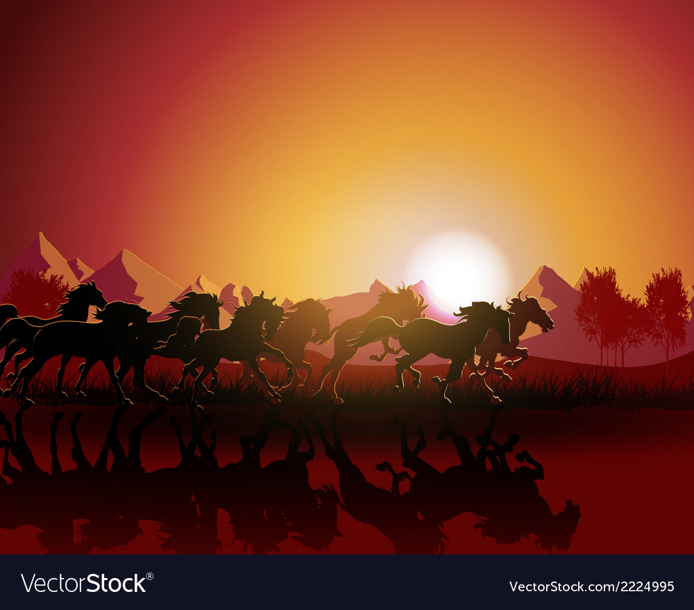 Horse sun bust vector | Price: 1 Credit (USD $1)