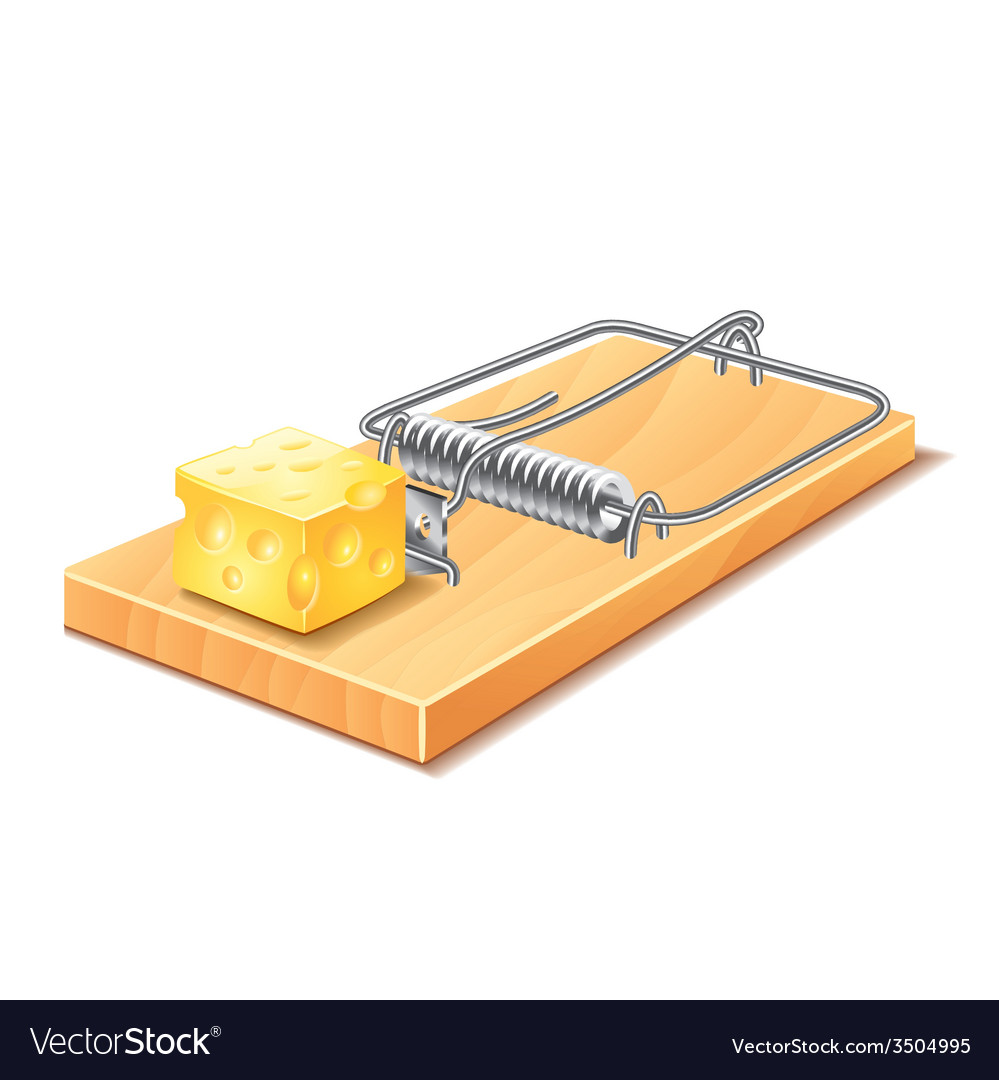 Mousetrap isolated vector | Price: 1 Credit (USD $1)