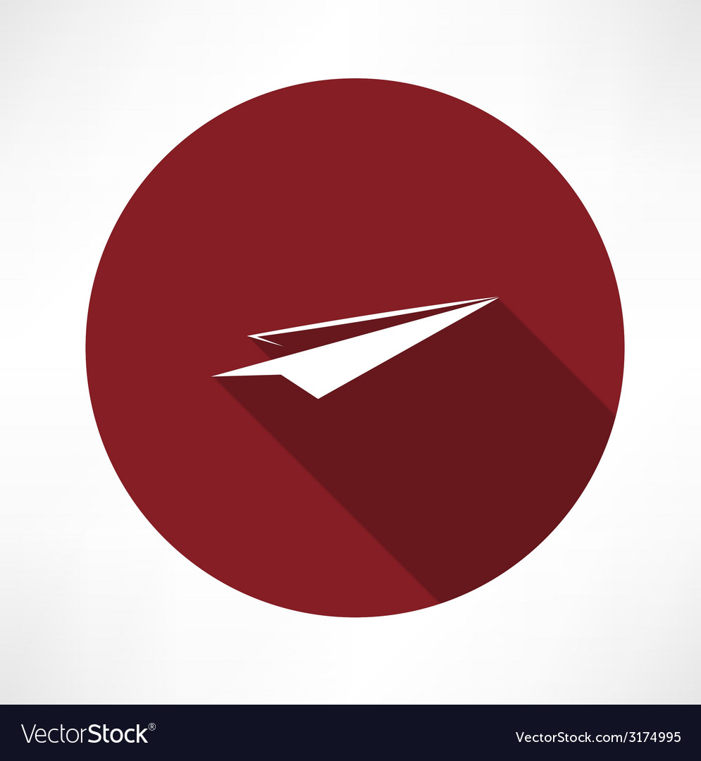 Paper airplane icon vector | Price: 1 Credit (USD $1)