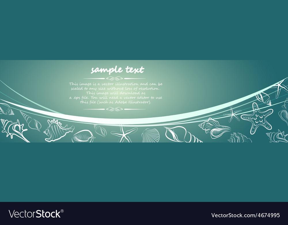 Seashell card3 vector | Price: 1 Credit (USD $1)