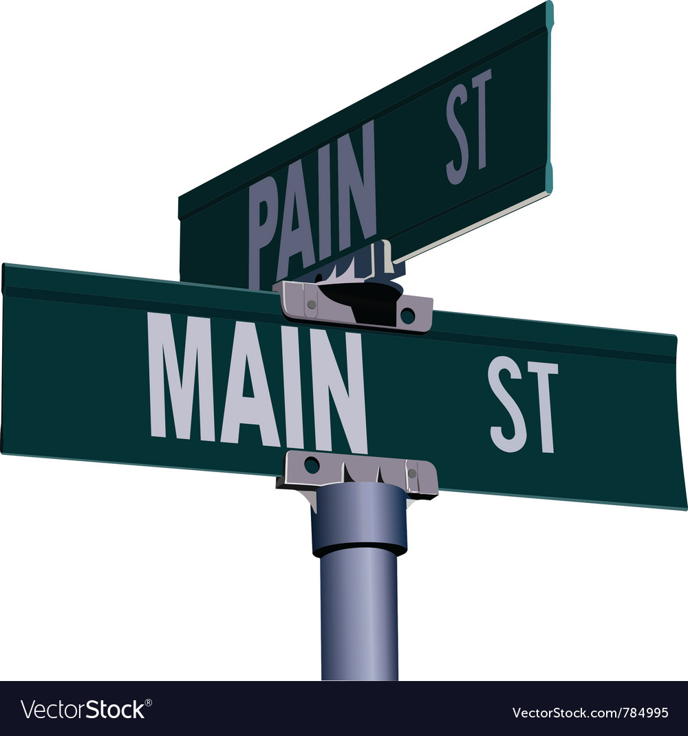 Street sign vector | Price: 1 Credit (USD $1)