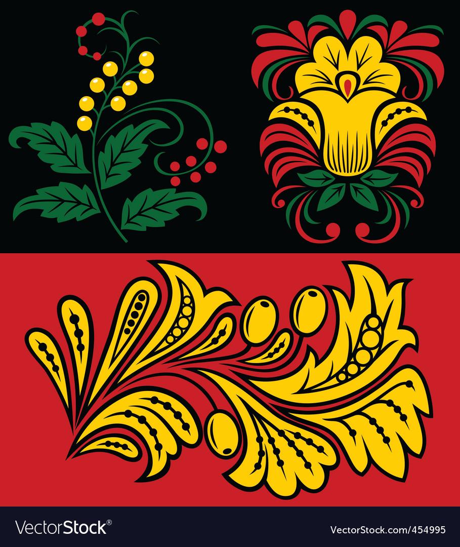 Vegetative pattern vector | Price: 1 Credit (USD $1)