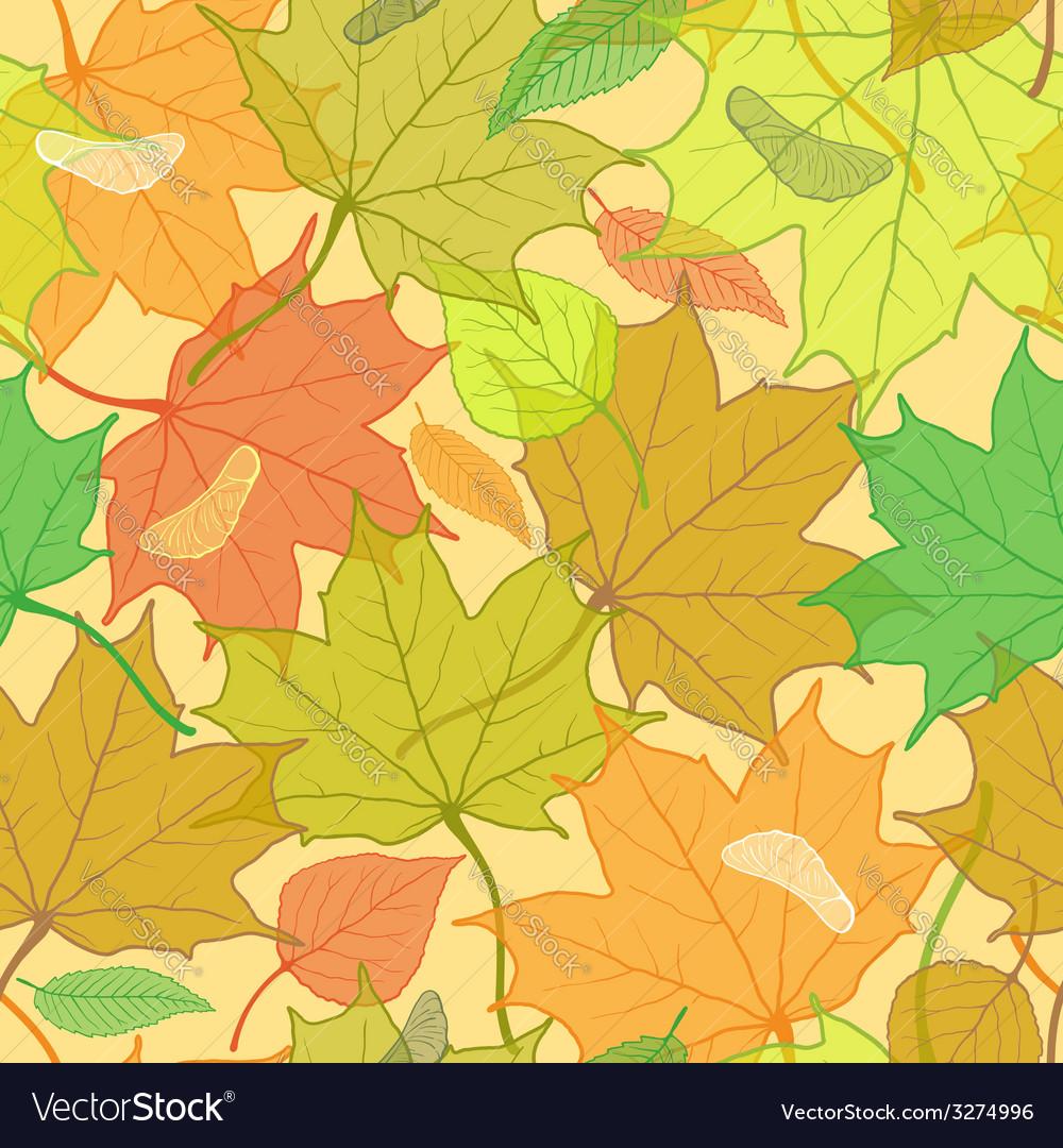 Autumn fallen leaves pattern vector | Price: 1 Credit (USD $1)