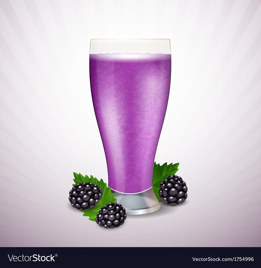 Blackberry milk vector | Price: 1 Credit (USD $1)