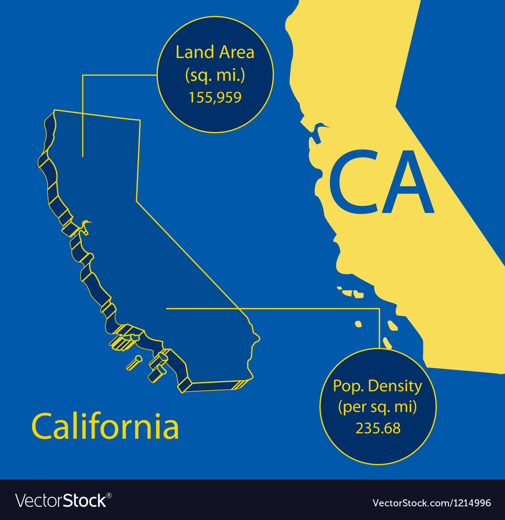 California 3d info graphic vector | Price: 1 Credit (USD $1)