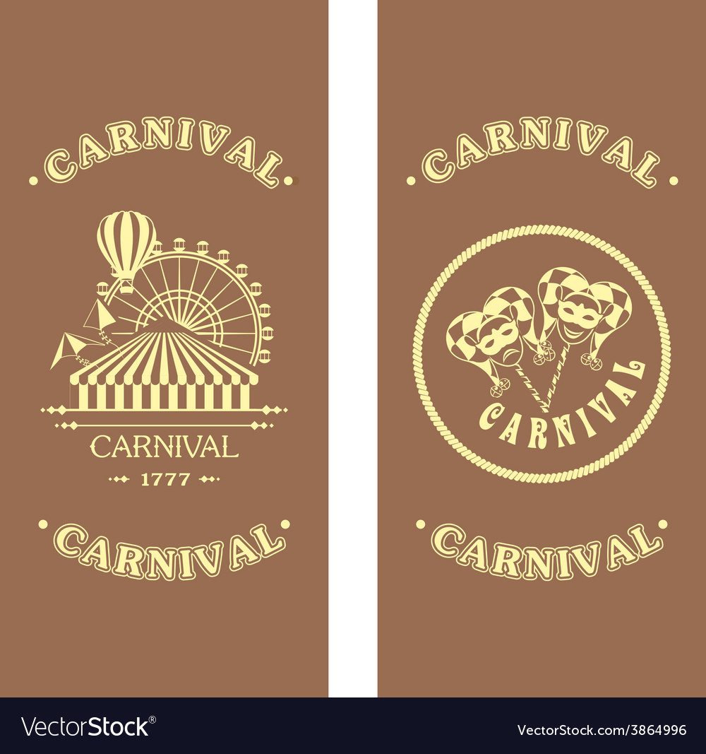 Carnival flyer on a wooden background vector