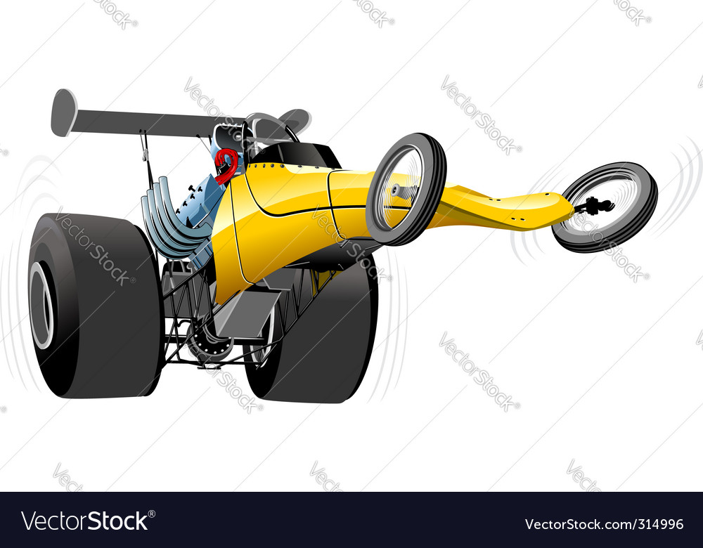 Cartoon dragster vector | Price: 3 Credit (USD $3)