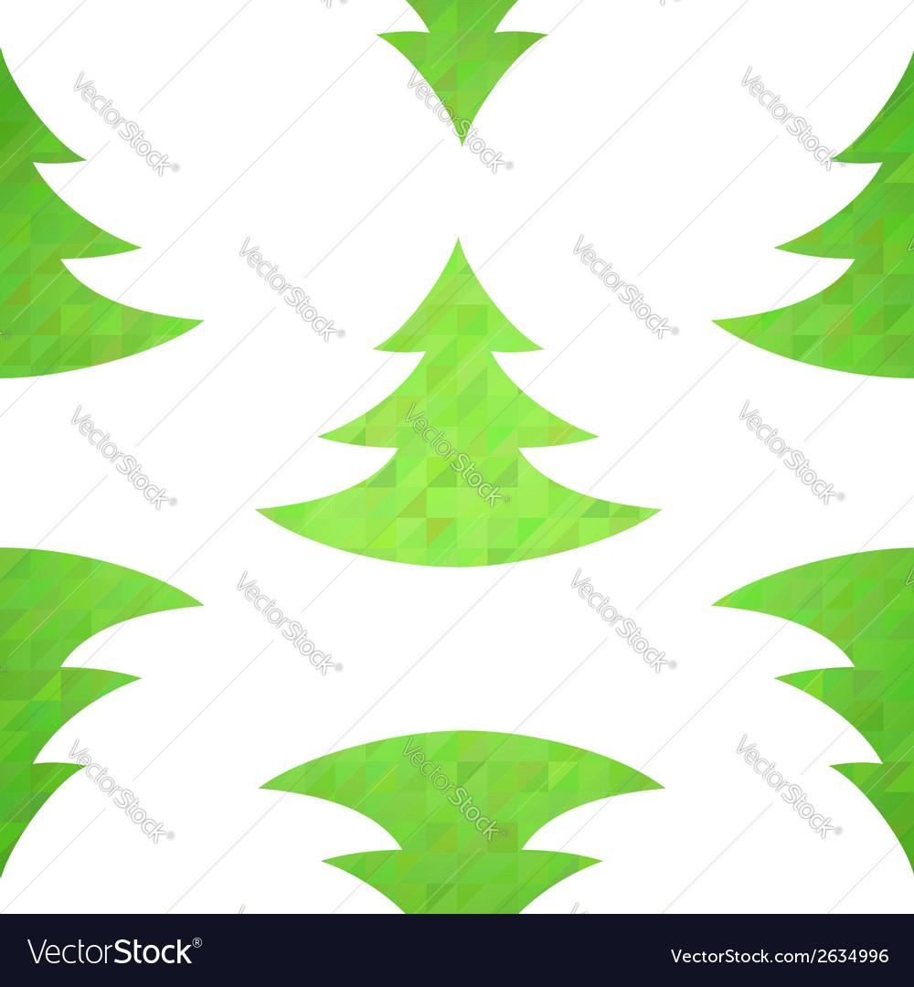 Christmas tree decorative seamless pattern vector   Price: 1 Credit (USD $1)