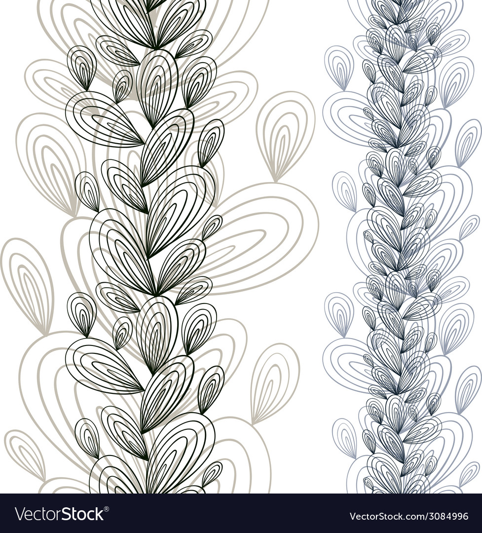 Exotic floral seamless pattern vector | Price: 1 Credit (USD $1)