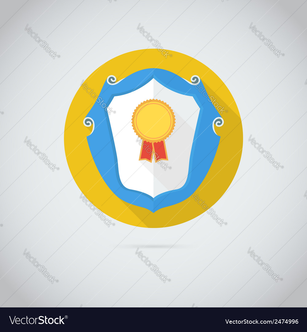 Flat icon with gold medal vector | Price: 1 Credit (USD $1)