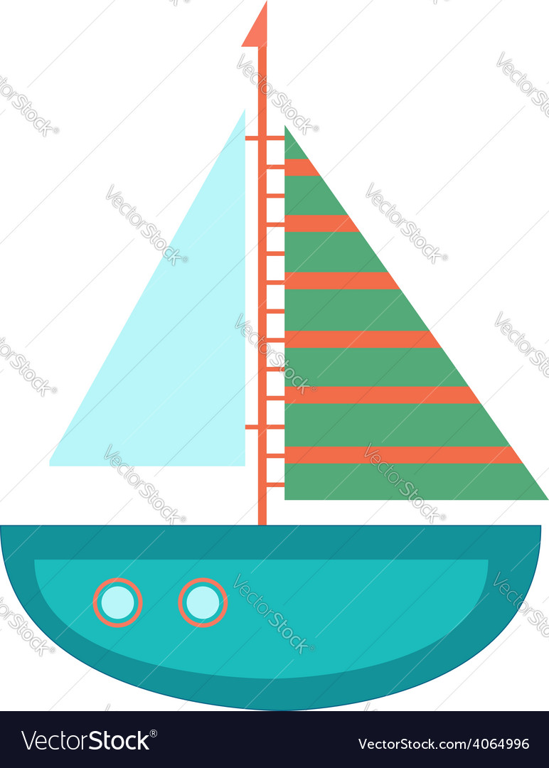 Flat of the ship vector | Price: 1 Credit (USD $1)