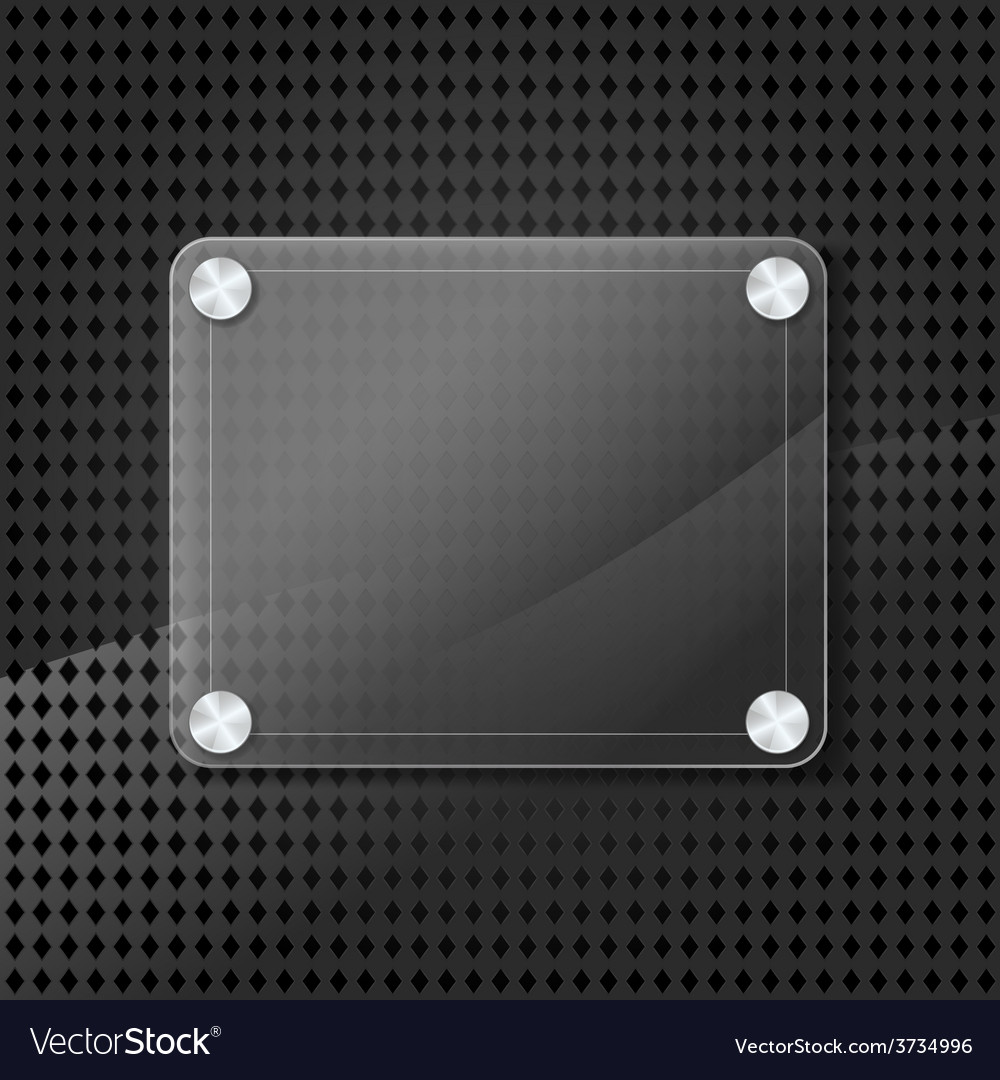 Glass frame on grid background vector | Price: 1 Credit (USD $1)