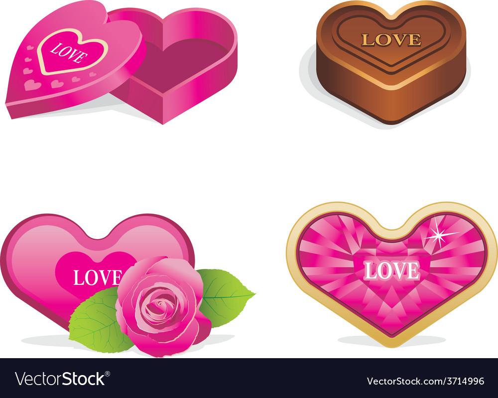Love icons set vector | Price: 1 Credit (USD $1)