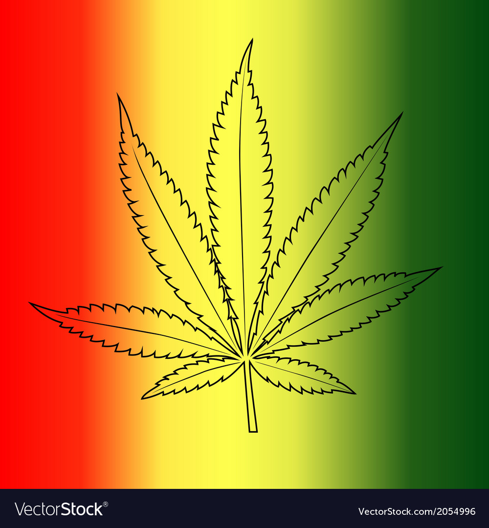 Marijuana leaf vector | Price: 1 Credit (USD $1)