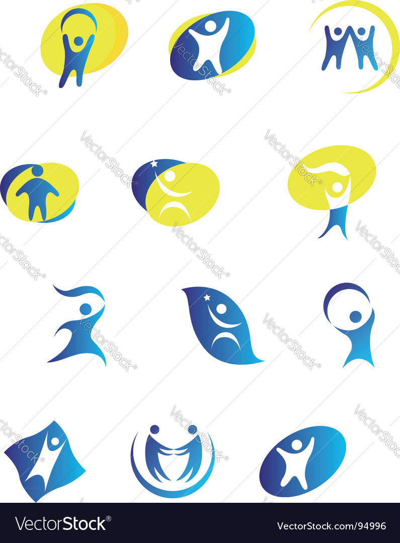 People signs vector | Price: 1 Credit (USD $1)