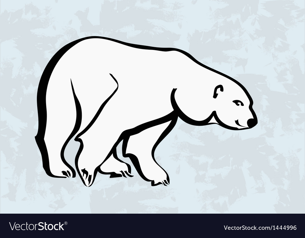 Polar bear icons tattoo vector | Price: 1 Credit (USD $1)