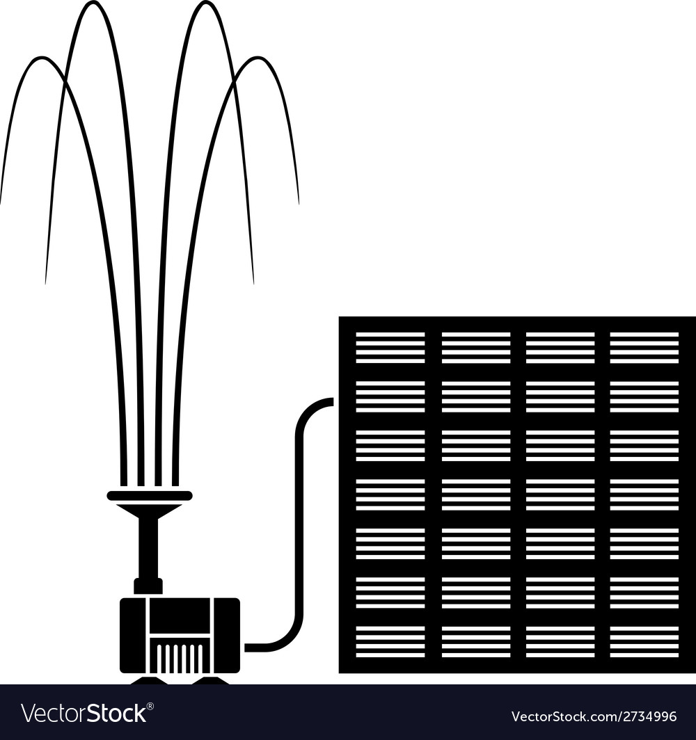 Solar fountain water pump vector | Price: 1 Credit (USD $1)