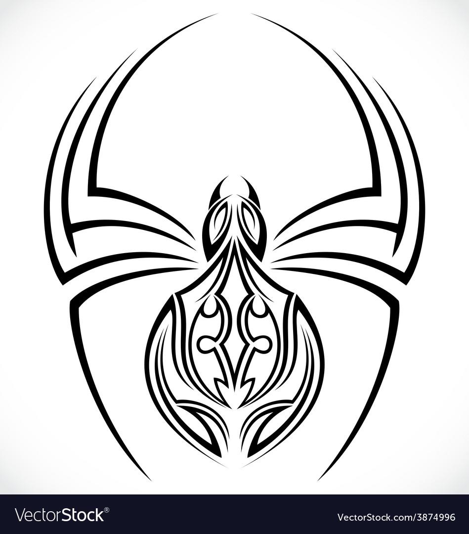 Spiders tattoo design vector | Price: 1 Credit (USD $1)