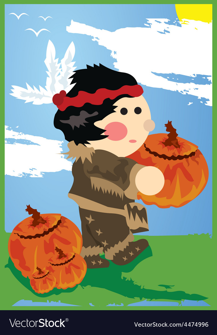 Thanksgiving cartoon vector   Price: 1 Credit (USD $1)