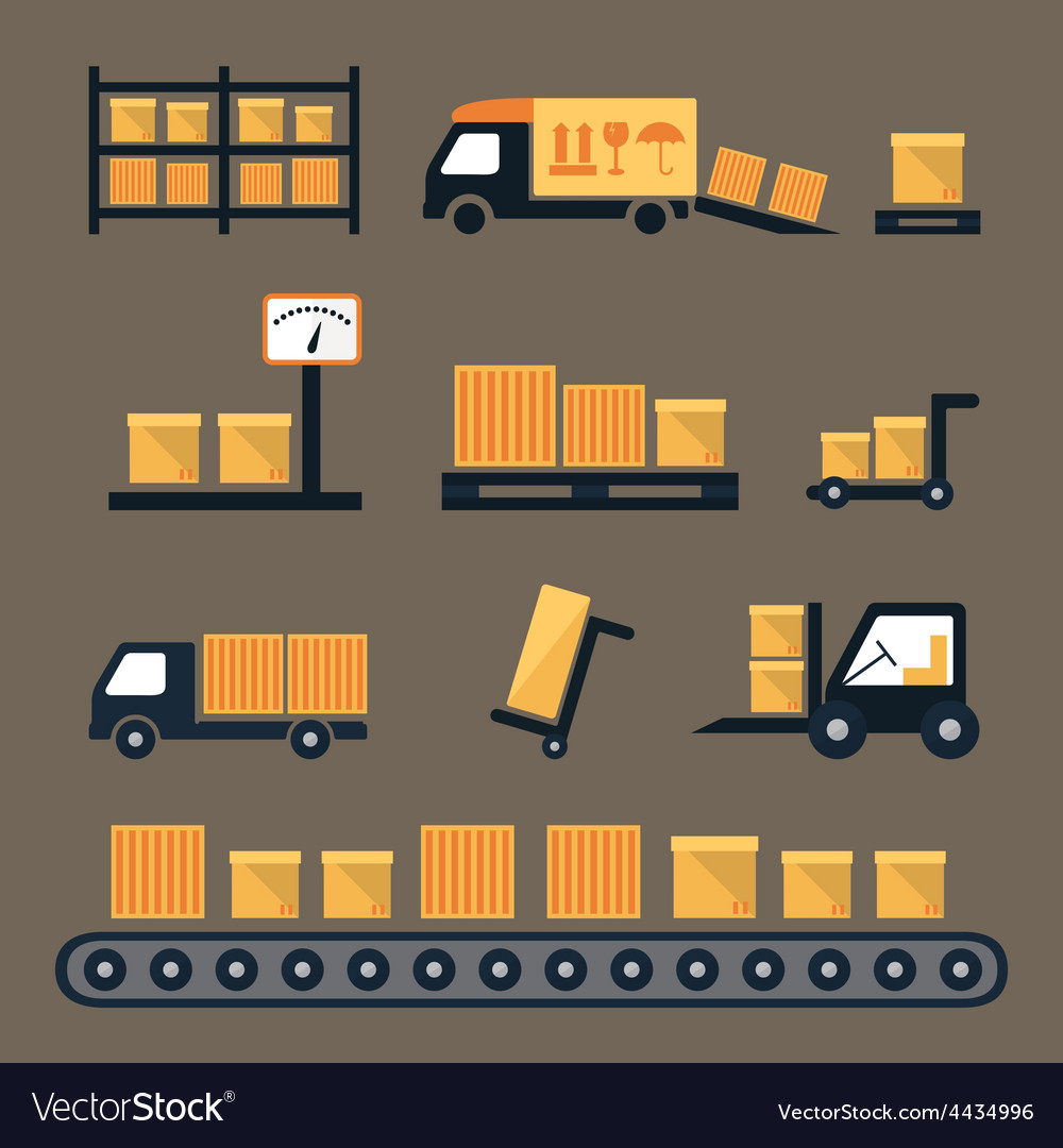 Transportation shipping and delivery icons vector | Price: 1 Credit (USD $1)