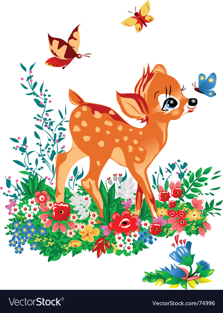 Young deer vector | Price: 1 Credit (USD $1)
