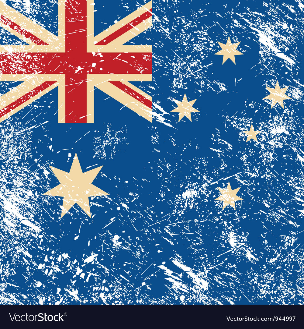 Australia retro flag vector | Price: 1 Credit (USD $1)