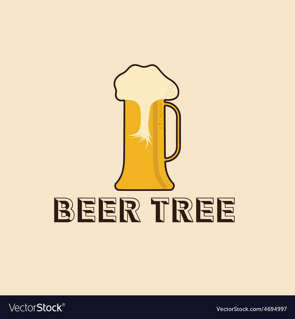 Beer tree concept design template vector | Price: 1 Credit (USD $1)