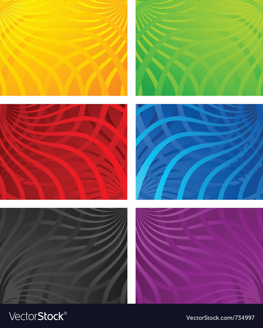 Colorful wavy line backgrounds vector | Price: 1 Credit (USD $1)