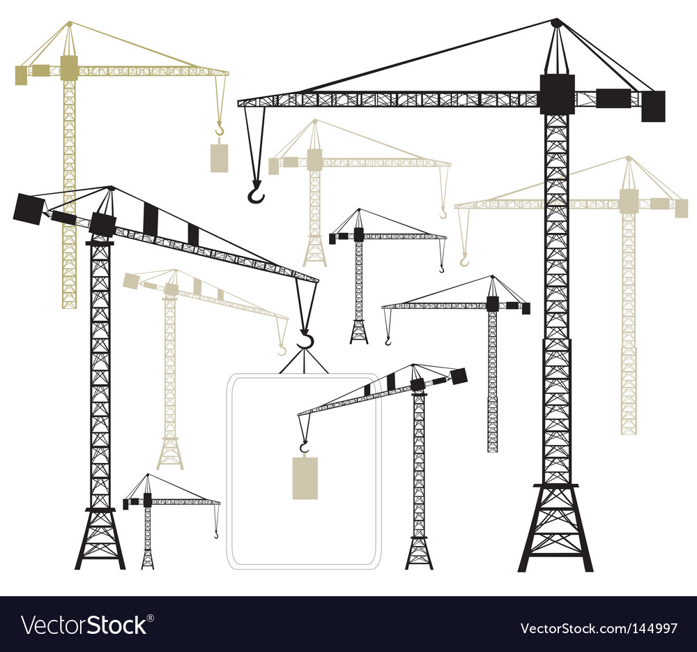 Cranes silhouettes vector | Price: 1 Credit (USD $1)