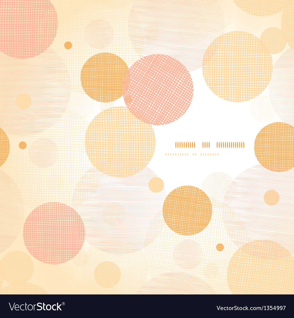 Fabric circles abstract frame pattern background vector | Price: 1 Credit (USD $1)