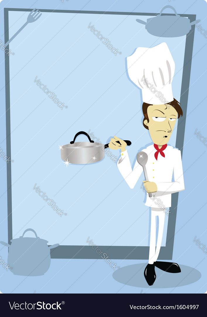 Funny chef with copyspace vector | Price: 1 Credit (USD $1)